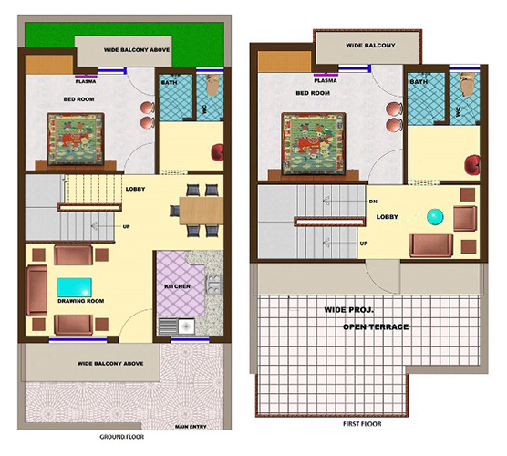 100 home design for 50 gaj colors 25 50 feet 116 square for Home design in 100 gaj