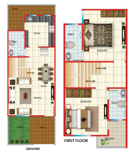 20 feet by 45 feet house map decorchamp page 3 for House plan for 20 feet by 45 feet plot