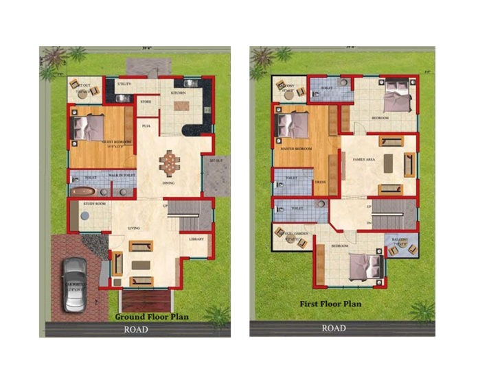 40 feet by 60 feet house plan decorchamp page 3 for House map 15 x 40