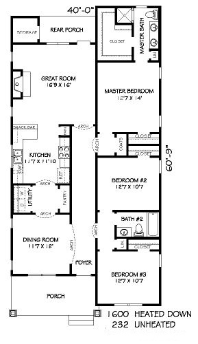 10 X 12 Bedroom Design: 40 Feet By 60 Feet House Plan