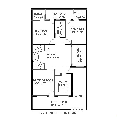 Plan For 20 Feet By 40 Feet Plot  Plot Size 89 Square Yards  Plan Code 1626 as well 30 20feetx45 20feet 20ka 20naksha also Residential Wiring Diagram Ex les as well 750 Square Feet House Plans besides The Prestige Subdivision Kate Model Bungalow. on 60 x 100 house plan