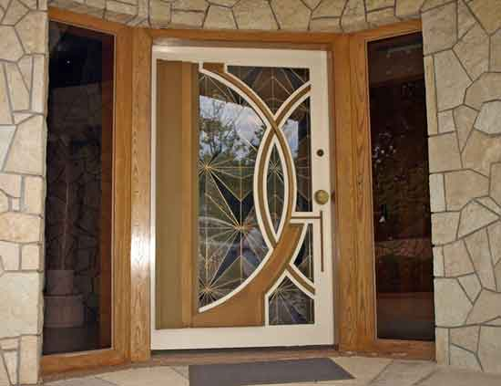 Give your home a stylish look with wooden style main gate for Main gate door design