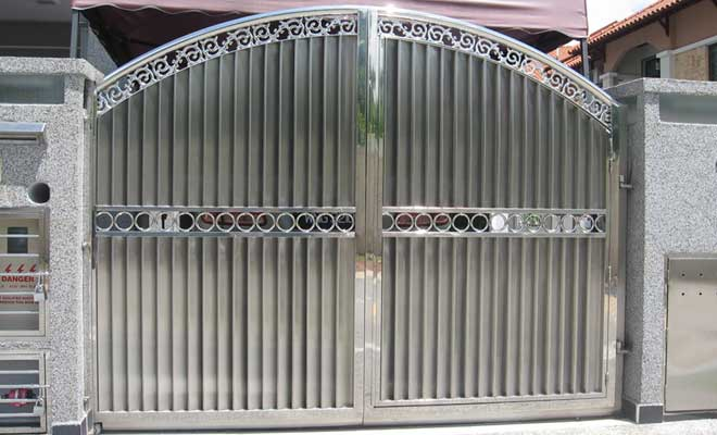 Stainless steel main gate designs decorchamp for International decor main gates