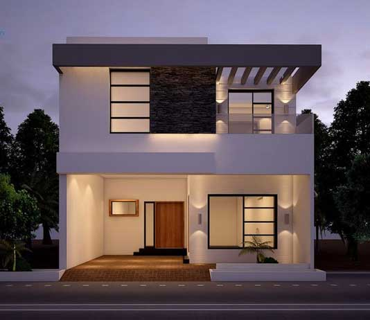 Front Elevation Door Design : Front elevation designs in india decorchamp