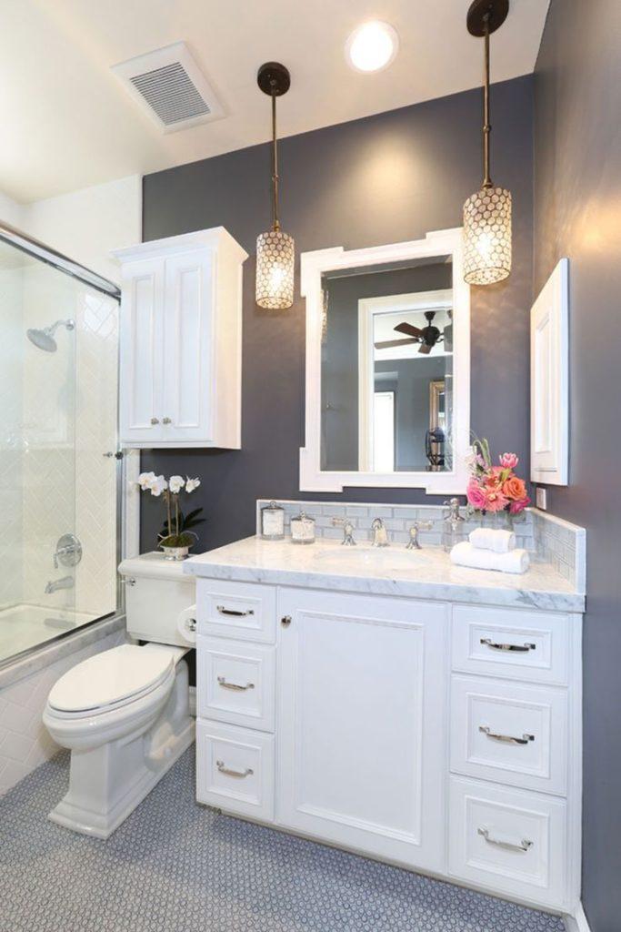 Light match bathroom