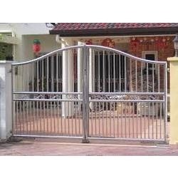 Give Your Home A Stylish Look With Wooden Style Main Gate