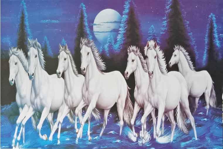 white-galloping-horse