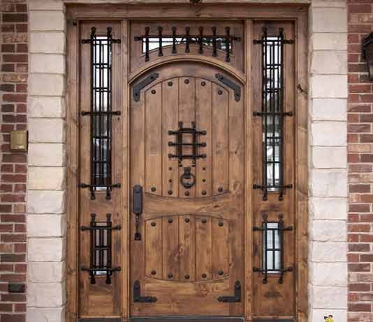 Give your home a stylish look with wooden style main gate decorchamp for Wooden main gate design for home