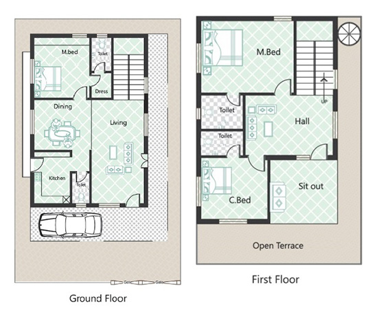 1000 Images About 3d Housing Plans Layouts On Pinterest: 25 Feet By 40 Feet House Plans