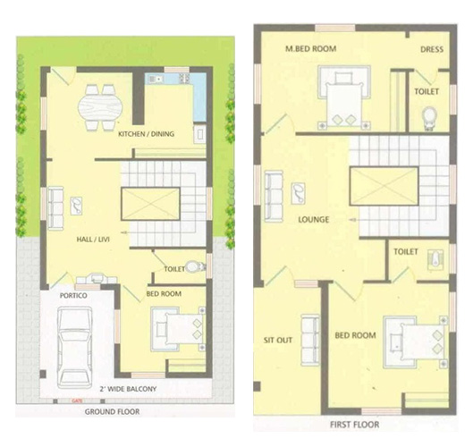 25 feet by 40 feet House Plans - DecorChamp
