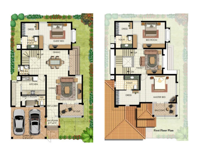 40 Feet By 60 Feet House Plan