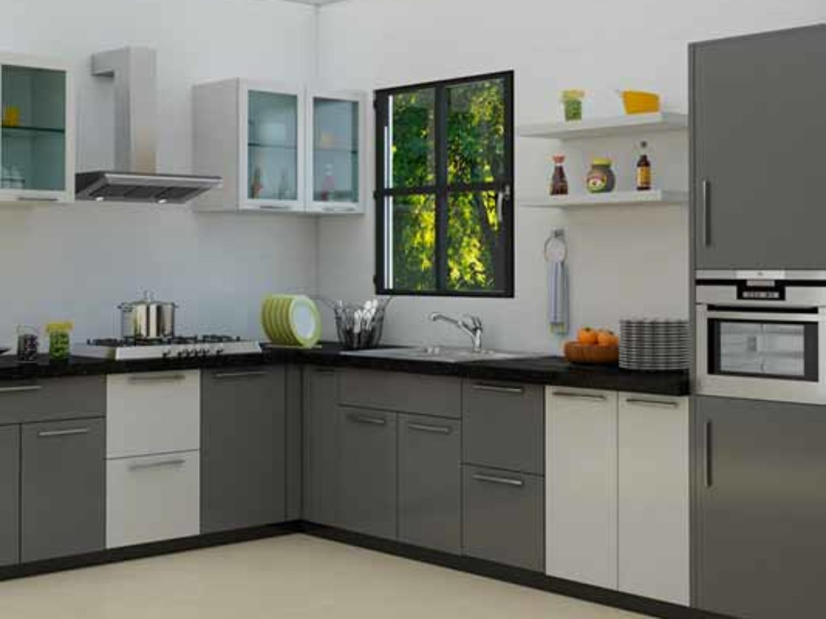 L Shaped Modular Kitchen Designs Photos   DecorChamp