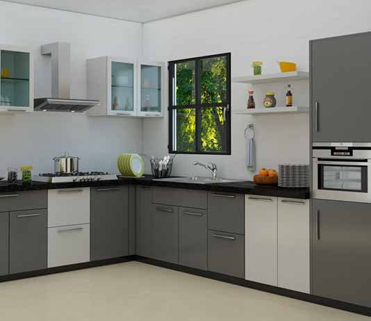 L Shaped Modular Kitchen Designs Photos