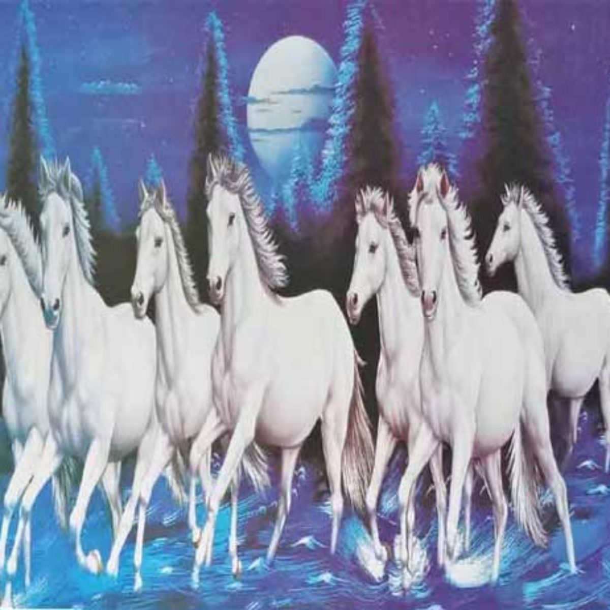 Which Direction Is The Best For Seven Running Horse Painting 7 Horse Vastu Direction