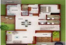 20 feet by 45 feet House Map - DecorChamp