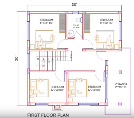 House Plan For 30 Feet By 30 Feet Plot Decorchamp