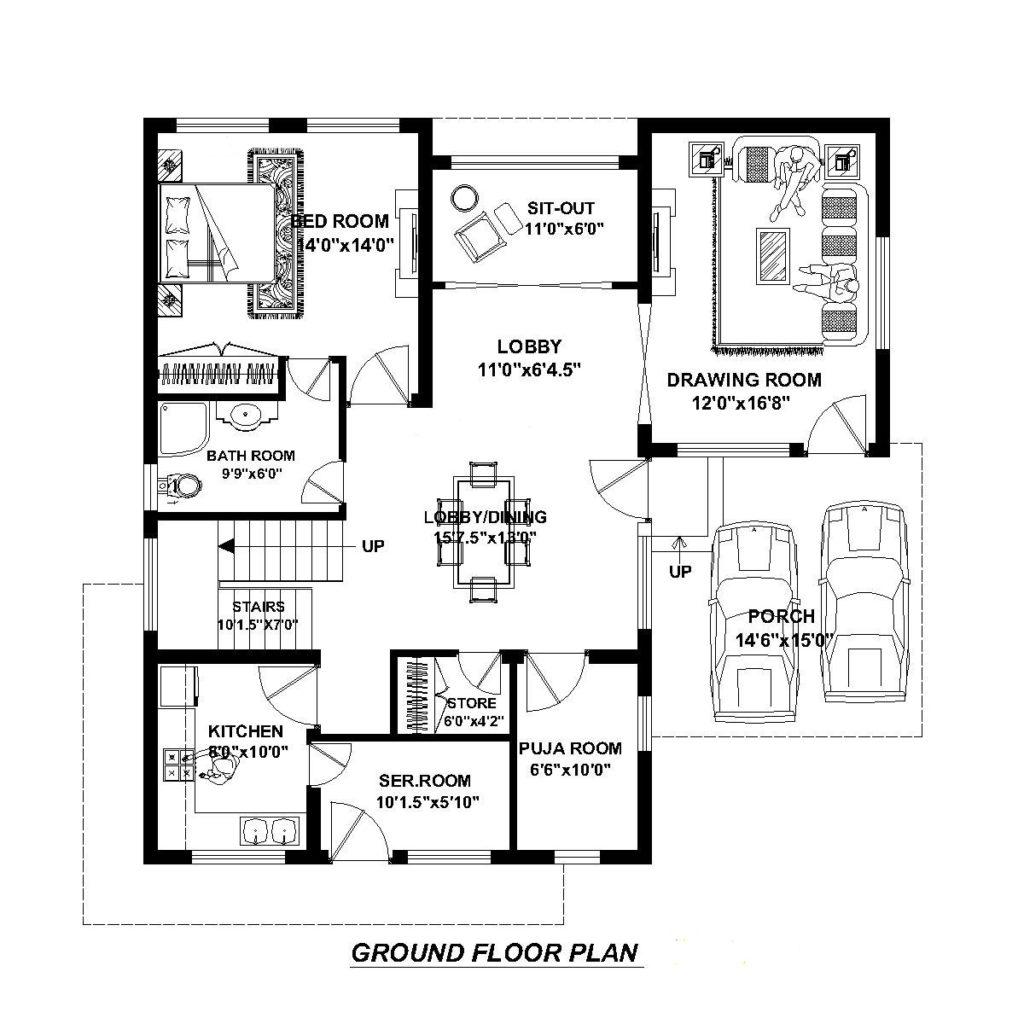 House Plans For 40 X 40 Feet Plot Decorchamp,Studio Apartment Layouts
