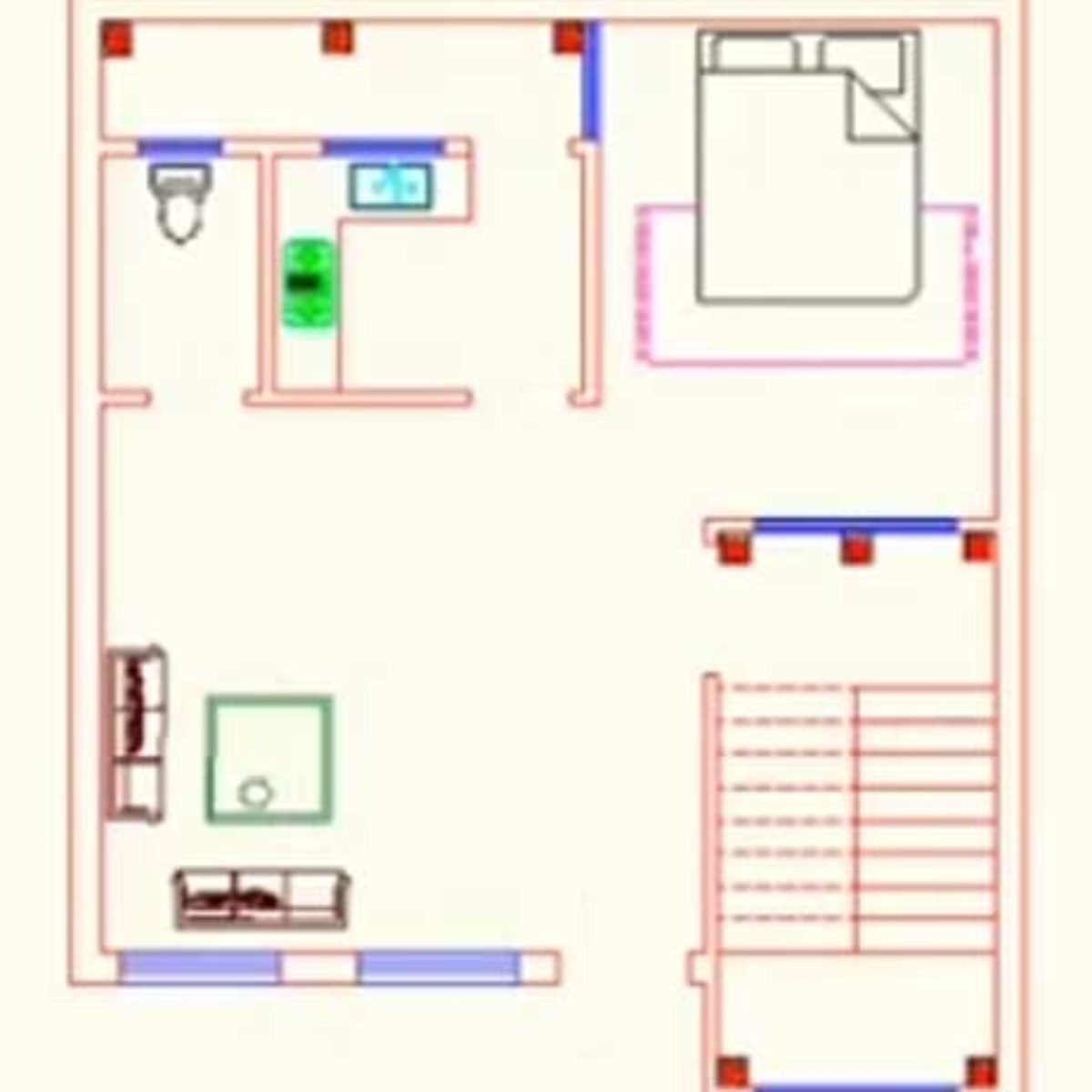 25 X 24 Feet Small House Plans Decorchamp